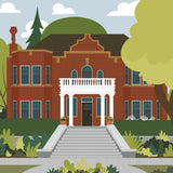 Edmonton - Rutherford House - Art Print - Snow Alligator by Jason Blower