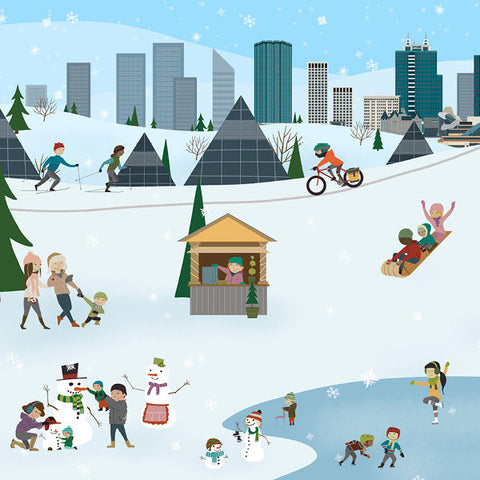 Edmonton - Winter City - Art Print - Snow Alligator by Jason Blower