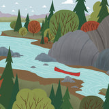 We're Going Canoeing - Creek - Art Print - Snow Alligator by Jason Blower