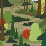 We're Going Biking - Trail Climb - Art Print - Snow Alligator by Jason Blower