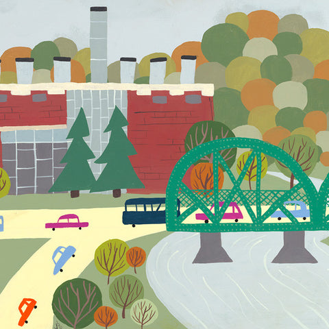 Edmonton - Rossdale / Walterdale - Art Print - Snow Alligator by Jason Blower