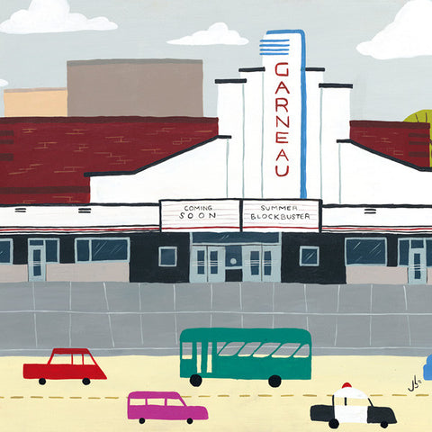 Edmonton - Garneau Theatre - Art Print - Snow Alligator by Jason Blower