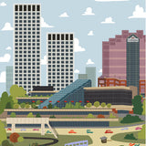 Edmonton - Shaw / Canada Place - Art Print - Snow Alligator by Jason Blower