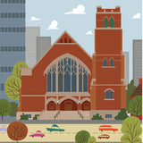 Edmonton - First Presbyterian Church - Art Print - Snow Alligator by Jason Blower