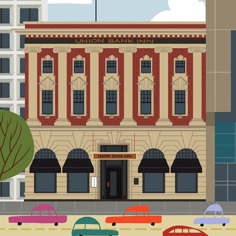 Edmonton - Union Bank Inn - Art Print - Snow Alligator by Jason Blower