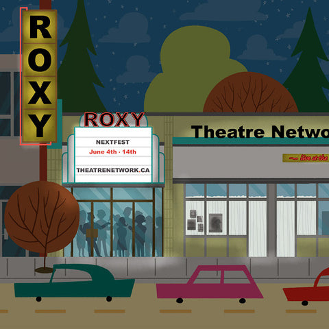 Edmonton - Roxy Theatre - Art Print - Snow Alligator by Jason Blower