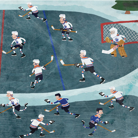 Pond Hockey - Art Print - Snow Alligator by Jason Blower
