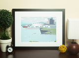 Vancouver - Canada Place and Convention Centre - Art Print - Snow Alligator by Jason Blower