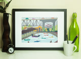 Vancouver - Granville Island - Art Print - Snow Alligator by Jason Blower