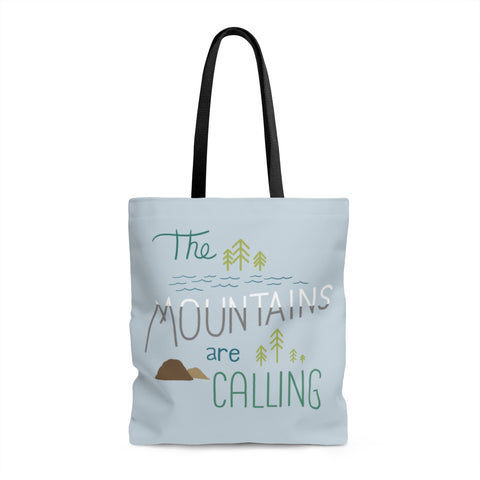 Mountains Calling -  Tote bag - Bags - Snow Alligator by Jason Blower