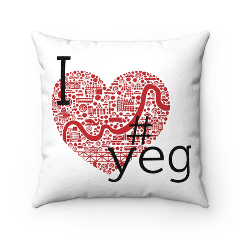I Heart #YEG - Pillow - Home Decor - Snow Alligator by Jason Blower