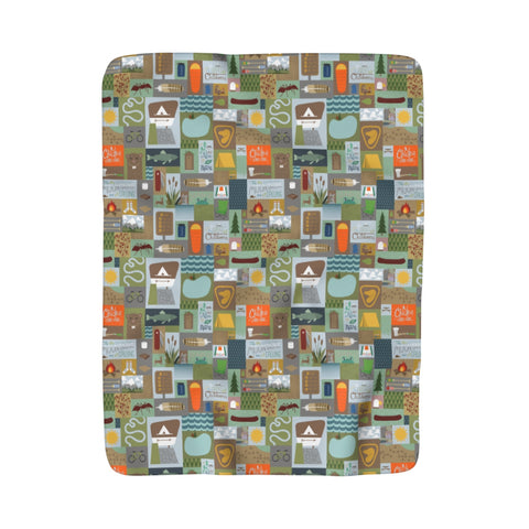 Great Outdoors Sherpa Fleece Blanket
