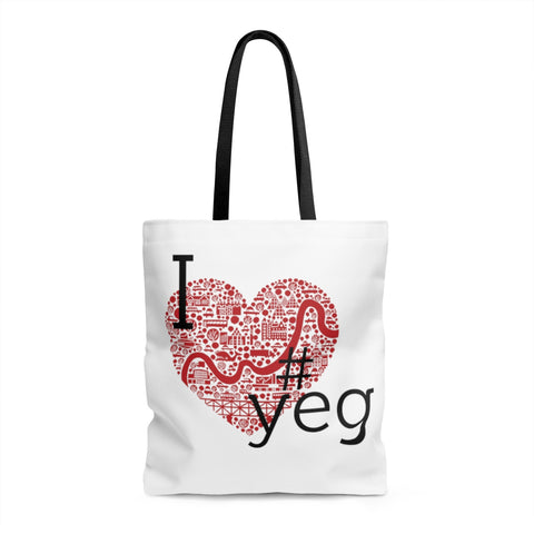 I heart #yeg Tote bag - Bags - Snow Alligator by Jason Blower