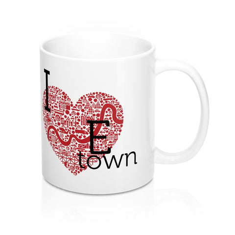 I heart Etown Mug - Mug - Snow Alligator by Jason Blower