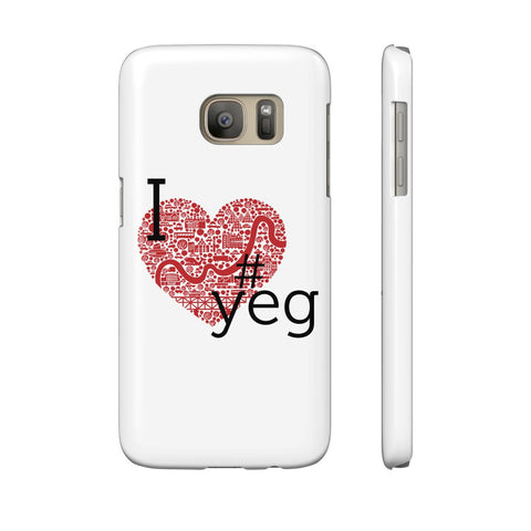 I heart YEG - Slim Samsung Galaxy S7 - Phone Case - Snow Alligator by Jason Blower