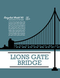 Lion's Gate Bridge - Model Kit - Toy - Snow Alligator by Jason Blower