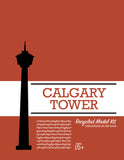 Calgary Tower - Model Kit - Toy - Snow Alligator by Jason Blower