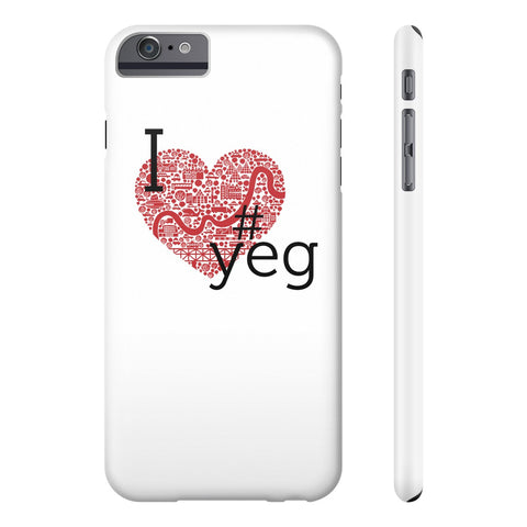 I Heart YEG - Slim Iphone 6/6s Plus - Phone Case - Snow Alligator by Jason Blower