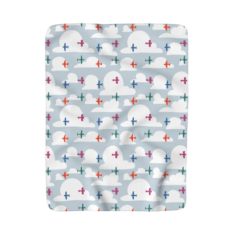 Planes Sherpa Fleece Blanket