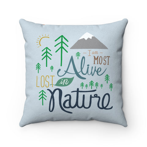 I am most alive Lost in Nature - Pillow - Home Decor - Snow Alligator by Jason Blower