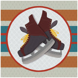 Hockey Skates Print - Art Print - Snow Alligator by Jason Blower