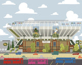 Edmonton - Commonwealth Stadium - Art Print - Snow Alligator by Jason Blower