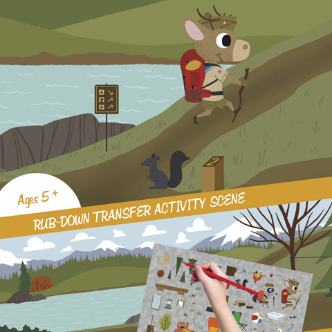 Hiking Adventure - Transfer Activity - Stickers - Snow Alligator by Jason Blower