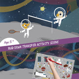 Space Adventure - Transfer Activity - Stickers - Snow Alligator by Jason Blower