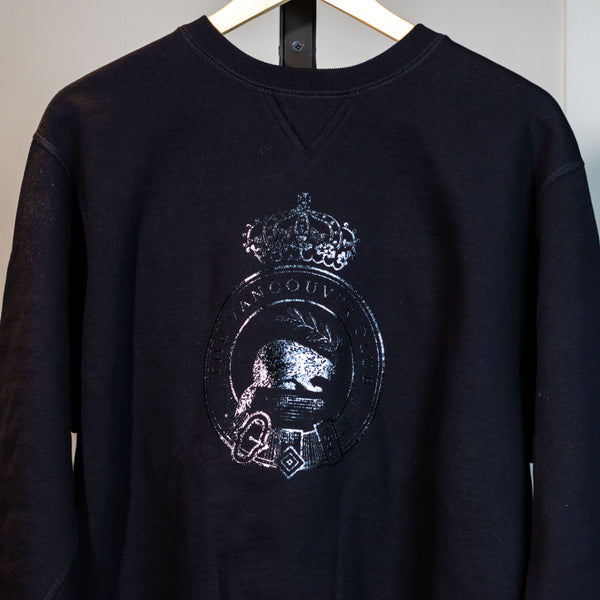 VC Original '1893' Beaver Crest 'Black on Black' Sweatshirt