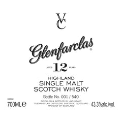 Glenfarclas VC Private Label 12 Year