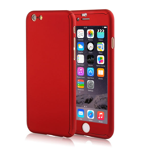 Full Body Coverage Coque Phone Cases for iPhone 5 5s SE 6 6s 7 Plus Hard PC Protective Cover Free Clear Screen Film