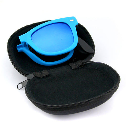 Men's/Women Foldable Sunglasses With Case Designer Mirrored Sun Glasses Folded