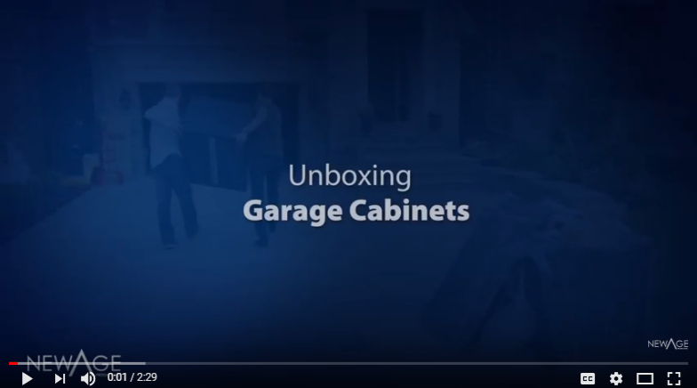 Unboxing your NewAge Garage Storage Cabinets