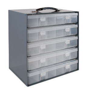 Model 291-95 Large Plastic Compartment Box Rack - ShopStorageCabinets.com