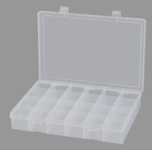 Model LP24-Clear Large 24 Compartment Box - ShopStorageCabinets.com