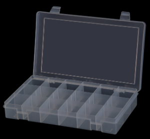 Model SP18-CLEAR Small 18 Compartment Box - ShopStorageCabinets.com