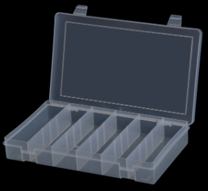 Model SP6-CLEAR Small 6 Compartment Box - ShopStorageCabinets.com