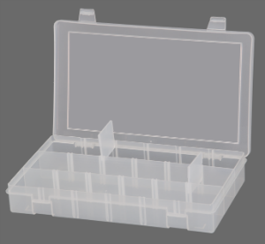 Model SPADJ-CLEAR Small Adjustable Compartment Box - ShopStorageCabinets.com
