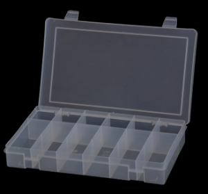Model SPOS12-CLR Small Plastic Offset 12 Compartment Box - ShopStorageCabinets.com