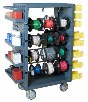 Mobile Wire Spool Rack - ShopStorageCabinets.com