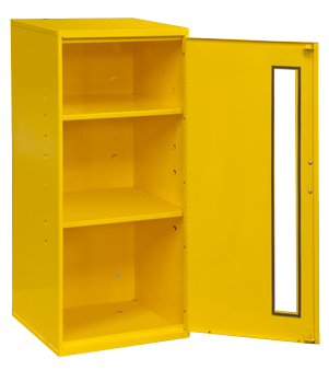 "Model 052-50 Small Spill Control Cabinet 13-3/4"" W, 30"" H and 12-3/4"" W - ShopStorageCabinets.com"