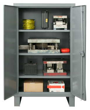 36x24x60 HD 14 Gauge Locker w/Recessed Doors and 3 Shelves - ShopStorageCabinets.com