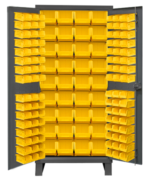 36x24x78 HD 14 Gauge Locker w/Feet and 132 Bins - ShopStorageCabinets.com