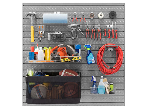 Slatwall Backsplash 40 piece Accessory Kit - ShopStorageCabinets.com