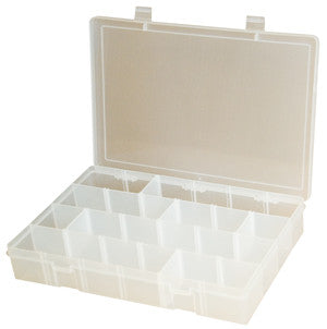 Model LPADJ Plastic Adjustable Compartment Box - ShopStorageCabinets.com