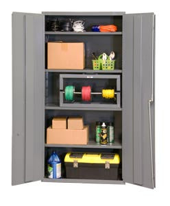 36x24x72 HD 16 Gauge Locker w/4 Shelves - ShopStorageCabinets.com