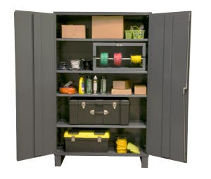48x24x78 HD 16 Gauge Locker w/Feet and 4 Shelves - ShopStorageCabinets.com