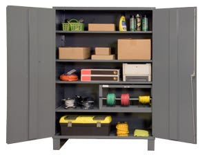 60x24x84 HD 16 Gauge Locker w/Feet and 4 Shelves - ShopStorageCabinets.com