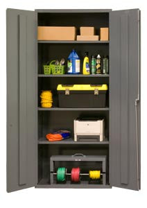 36x18x84 HD 16 Gauge Locker w/4 Shelves - ShopStorageCabinets.com
