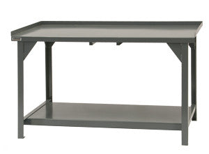 "60"" Heavy Duty Workbench with Back and End Stops - ShopStorageCabinets.com"